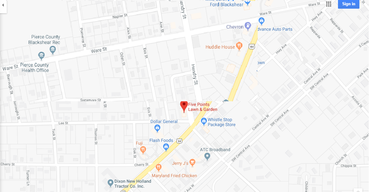 Google Map for Five Points Lawn Center